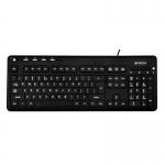Клавиатура A4Tech KD-126, black (с белой подсветкой)