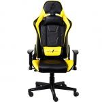 Игровое компьютерное кресло 1stPlayer FK2, Black/Yellow