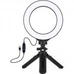 """Кольцевая LED лампа Puluz PKT3059B 6.2"""" + настольный штатив"""