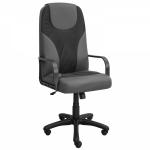 Кресло для офиса Zeta Мэри эко-кожа, серый