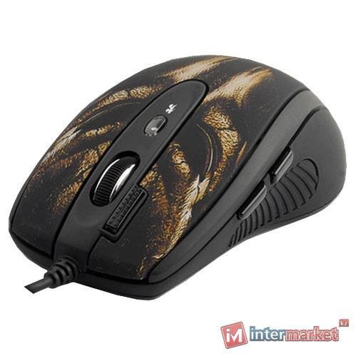 Мышь A4Tech XL-750BH, Black-Brown, USB