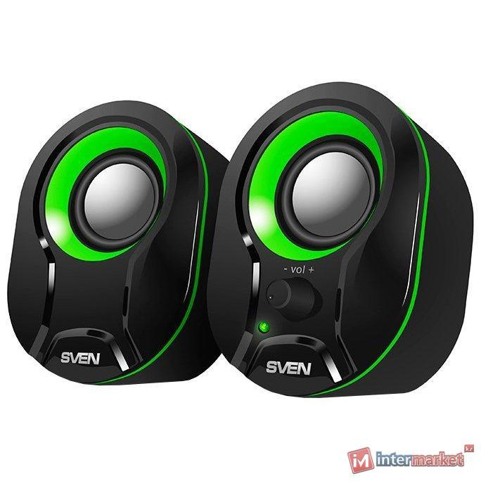 SVEN Колонки 290 черный-зелёный /